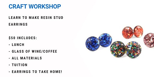 Grab a glass of wine and learn to make Resin Studs!