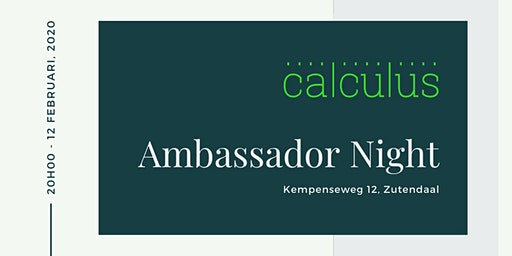 Calculus Ambassador Night