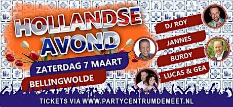 Hollandse Avond tickets