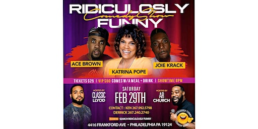 RIDICULOUSLY FUNNY COMEDY SERIES FEBRUARY
