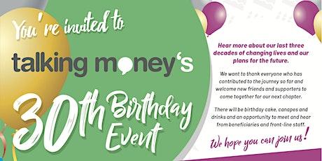 Talking Money's 30th Birthday Event tickets