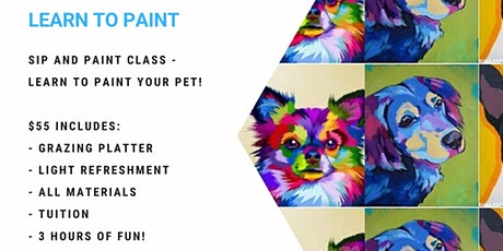 Learn to paint your pet - Andy Warhol style! tickets