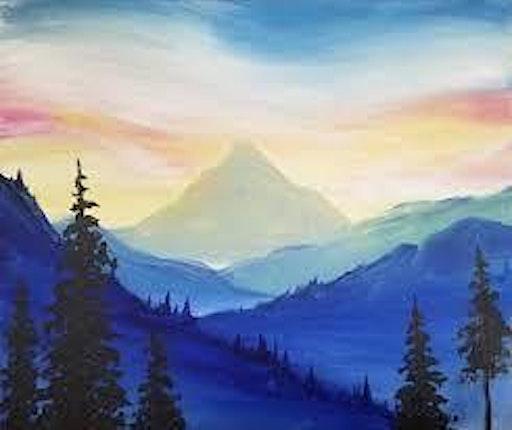 Mountain Landcape - Wine N' Paint