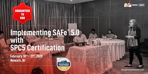 Implementing SAFe® 5 with SPC5 Certification, Newark, NJ (Feb 18-21, 2020)