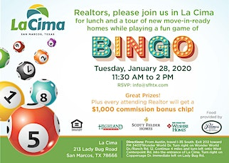 Realtor Lunch and Tour in La Cima - San Marcos tickets