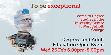 Haverhill - Degree Studies & Adult Education Open Event tickets
