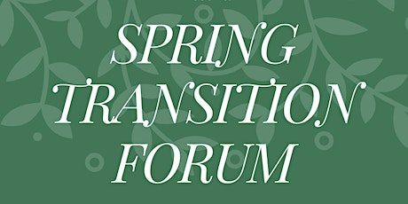 A Spring Transition Forum for Parents & Professionals tickets