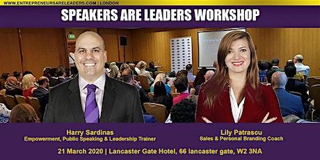 Motivational Speaker Training @ Speakers Are Leaders 4 April 2020 Evening tickets