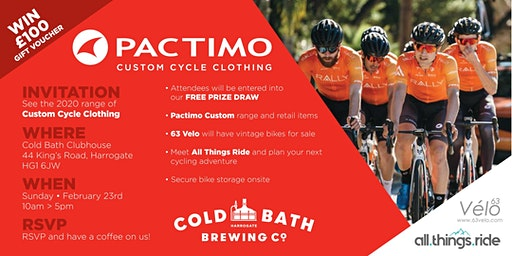Meet the PACTIMO TEAM and talk all things cycling and triathlon clothing.