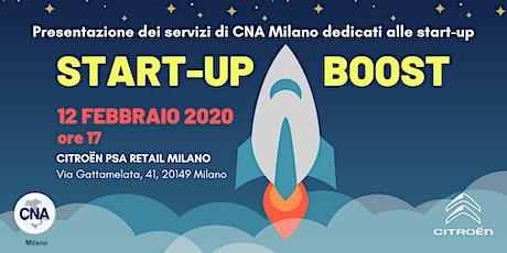 Start-up Boost: Il progetto di CNA Milano dedicato al mondo delle start-up biglietti