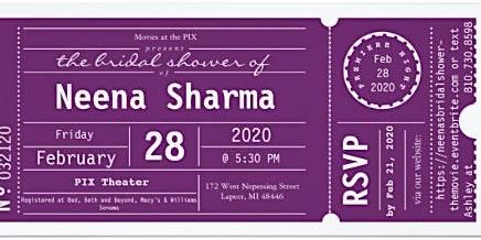 Neena Sharma's Bridal Shower