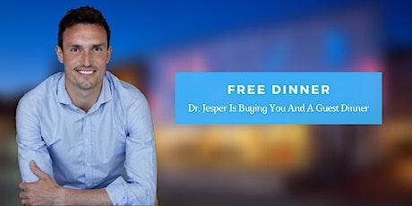 Bliv smertefri - Gratis middag med kiropraktor Jesper Dahlgaard Tickets