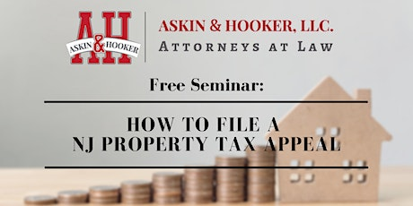 Free Seminar: How to File a NJ Tax Appeal tickets