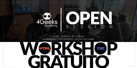 Open Session: Workshop Gratuito - Principios básicos de HTML y CSS tickets
