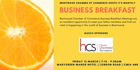 March 2020 Brentwood Chamber of Commerce Business Breakfast tickets