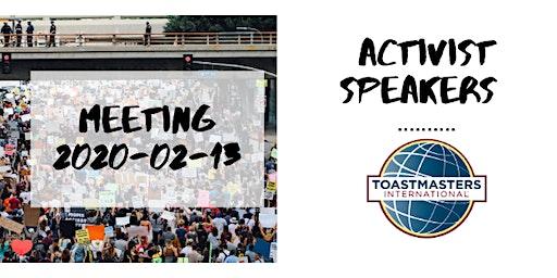 Activist Speakers Toastmasters