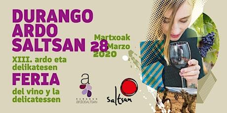 DURANGO ARDO SALTSAN 2020 entradas