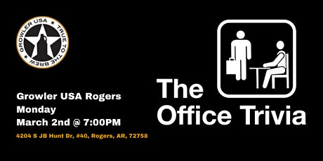 The Office Trivia at Growler USA Rogers tickets