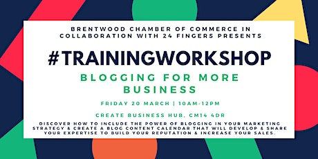 Training Workshop: Blogging for More Business tickets