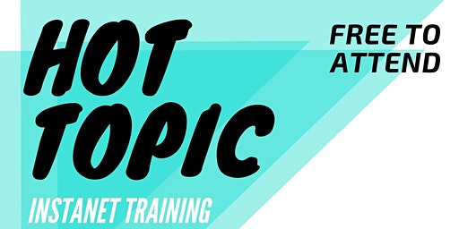 Hot Topic: Instanet Training