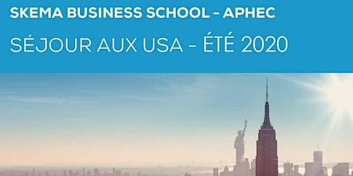 Été 2020 APHEC-SKEMA Séjour aux U.S.A. pour les Professeurs