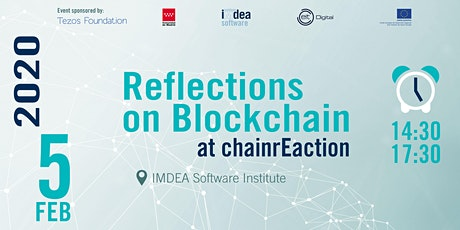 Reflections on Blockchain at chainrEaction tickets