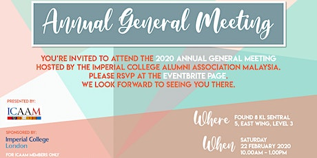 ICAAM Annual General Meeting 2020 tickets