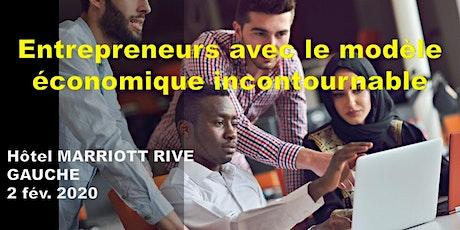 Entrepreneurs avec le modèle économique incontournable billets