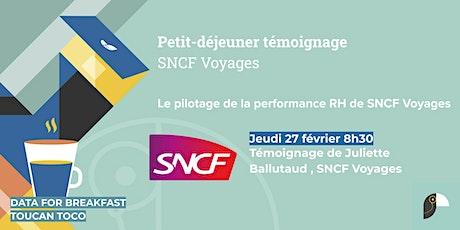 Petit-déjeuner témoignage : pilotage de la performance RH de SNCF Voyages tickets