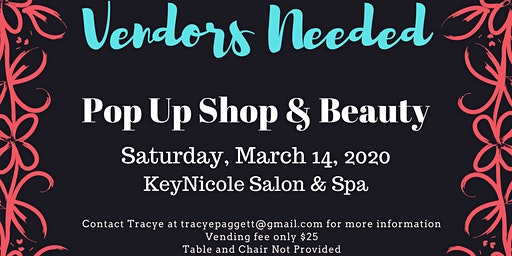 Vendors Needed for Pop Up Shop