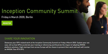 NVIDIA Inception Community Summit tickets