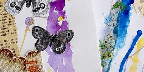 Paper Tissue Paint  and Stitch! - a mixed media collage workshop tickets