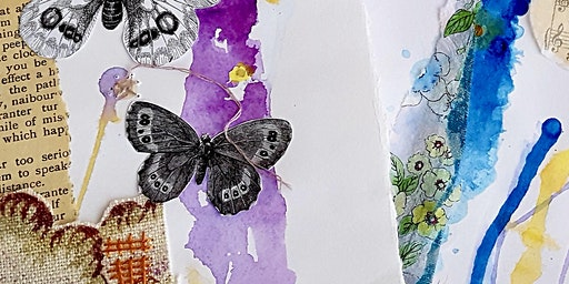 Paper, Tissue, and Stitch! - a mixed media collage workshop