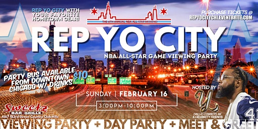 NBA All-Star Weekend Rep Yo City Day Party + Meet & Greet