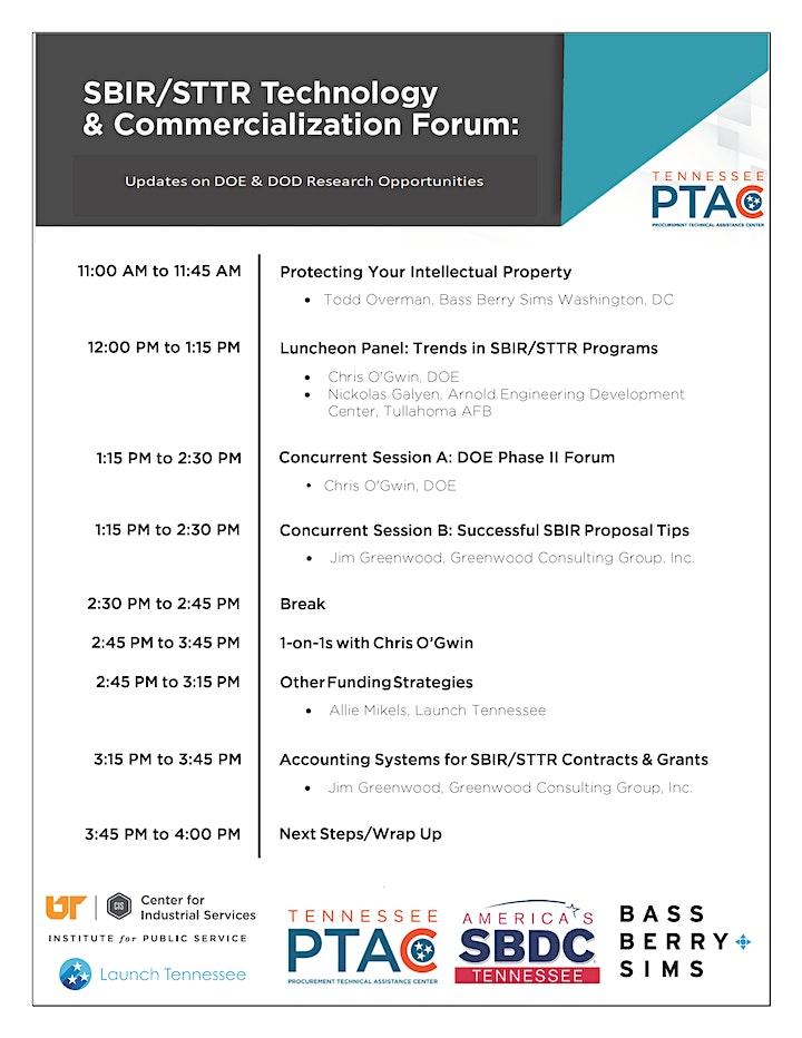 SBIR/STTR Technology   & Commercialization Forum - DOE/DOD Research Update image