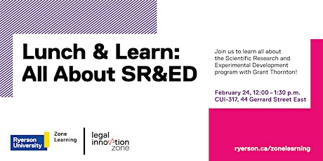 Lunch & Learn: All About SR&ED tickets