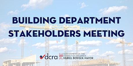 Building Department Stakeholders Meeting tickets
