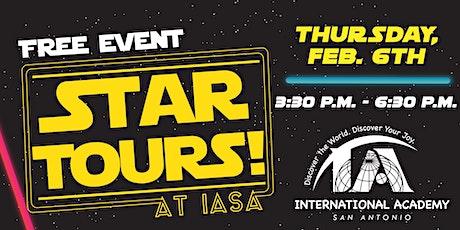 Star Tours at IASA: International Academy of San Antonio Open House tickets