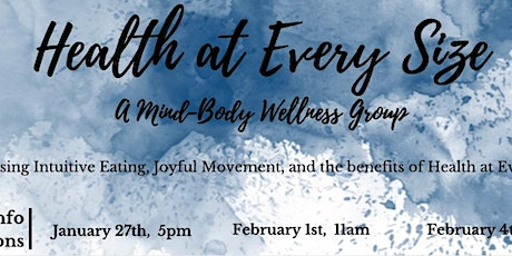 Health-At-Every-Size Therapy Group INFO SESSION tickets
