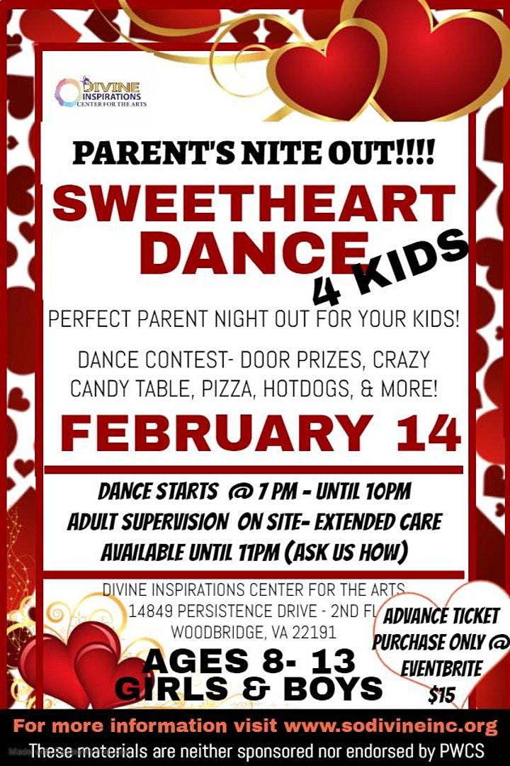 Parents Nite Out! Sweetheart Dance 4 Kids image