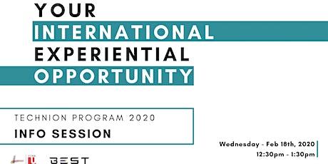 York-Technion 2020 - Info Session  tickets