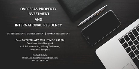OVERSEAS PROPERTY INVESTMENT AND  INTERNATIONAL RESIDENCY tickets