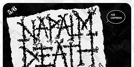 Napalm Death @ The Orpheum tickets