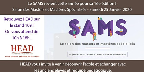 Salon des Masters et des Mastères Spécialisés SAMS 25/01/2020 billets