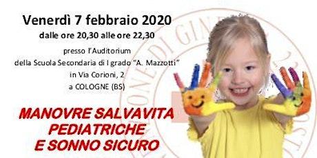 Serata Informativa Manovre di Disostruzione in età pediatrica biglietti