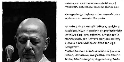 Roberto Sbaratto in: maratona di letture espressive a Saluggia
