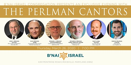 RESCHEDULED: A Special Evening With The Perlman Cantors tickets
