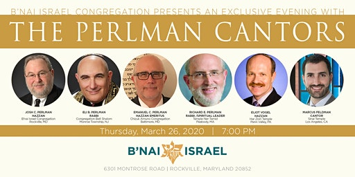 A Special Evening With The Perlman Cantors