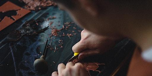 Linocut workshop with artist Liz Wellby