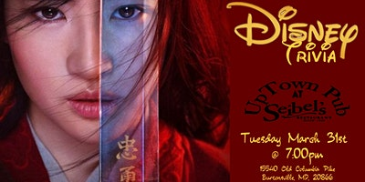 Disney Movie Trivia at Seibel's Restaurant & Uptown Pub